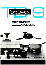 1 x STELLAVOX TD 9 Manual & Service Manual on one CD!!! Language: strettamente