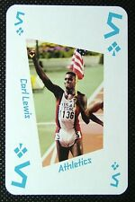 1 x playing card London 2012 Olympic Legends Carl Lewis Athletics 5C