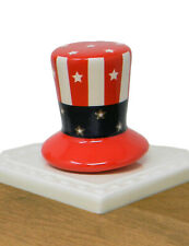 "Original Style Nora Fleming Uncle Sam's Hat Mini ""Home Of The Free"""