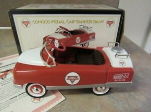 CROWN PREMIUMS CONOCO 1948 BMC TANKER PEDAL CAR BANK 1/6 SCALE