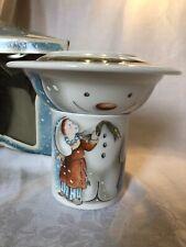 Royal Doulton Build A Snowman Dish Set W/Original Box
