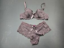 36B La SENZA Women's Sexy Lace Padded Underwire Bra W/Matching Sexy Bottoms 1J