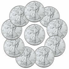 Lot of 10 2020 1 oz American Silver Eagle $1 Coins GEM BU Delay SKU59439