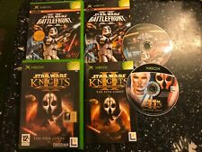 2 ORIGINAL XBOX STAR WARS KNIGHTS OF THE OLD REPUBLIC II SITH LORD BATTLEFRONT 2