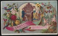 B. Shoninger, Mason and Hamlin Organs and Pianos Lot Two Victorian Trade Cards