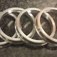 Aluminium Spigot Rings - 57.1 to 60.1 Set of 4 VW SEAT SKODA AUDI AEZ DOTZ