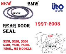 Rear Door Weatherstrip Seal For 97-03 E39 E38 BMW 525 528 530 540 740 750 M5 NEW