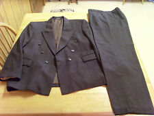 TURKISH ALPHAN BROWN WOOL 2 PIECE DOUBLE BREASTED SUIT, 40R?, MADE IN TURKEY