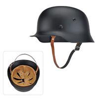 1PC Black WW2 German Elite WH Army M35 M1935 Steel Helmet Stahlhelm High Quality