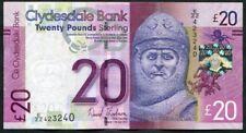 SCOTLAND   Clydesdale Bank  £20   2014   E/ZZ +  FREE  WHS New Lanark brochure