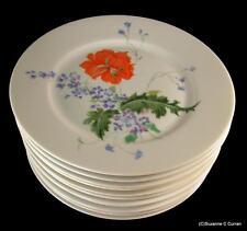 Scarce Raynaud Ceralene Limoges PAVOT Poppy Luncheon/Dessert Plate Set of 10