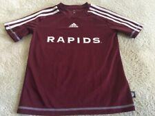 Adidas Climalite Boys Colorado Rapids Soccer Burgundy White Short Sleeve Shirt 6