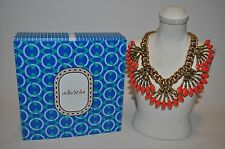 stella & dot Coral Cay Statement Necklace jonquil stones 17' length 3' extender