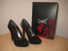 Carlos Santana Shoes Size 8 M Womens New Lust B3857L2001 Black Suede Pumps