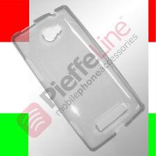 Custodia silicone GEL BIANCA PROTEZIONE trasparente per HTC WINDOWS PHONE 8S