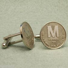 Washington DC Metro Token Cufflinks, Vintage 1993 Metrobus Serving Our Students