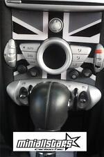 2007-2010 JCW Mini Cooper S R55 R56 R57 Black Union Jack Radio badge deco