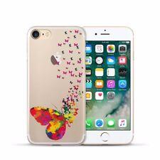 Protección, funda protectora iPhone 7 8 Soft Cover Case, bumper, protección bolsa motivo slim TPU Butterfly