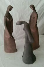 Impressionist Sculpture Figures Textured Ceramic PHILIP JACKSON Style Lot of 3