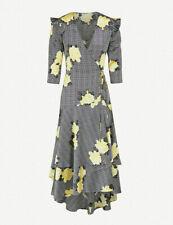 BNWT Ganni CALLA SILK WRAP DRESS £490 Current Season SIZE 12 UK