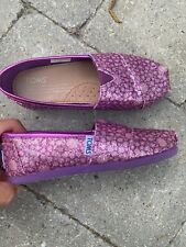 *** pink TOMS girl youth sz shoes loafers