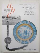 ABC décor N°187 1980 /chartes et sceaux/faïence fine de Bordeaux XIXè