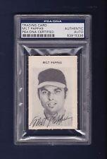 Milt Pappas signed vinatge baseball game card Psa/Dna slabbed