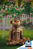 Goldener Yoga Affe Pamtetu Große Deko Figur Buddha Haltung Feng Shui Trend Cool