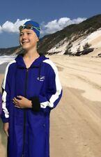 Swim Parka New Wazsup Royal Blue M pool deck coat, swim jacket, beach robe)