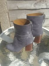 women Zara leather uncle boots
