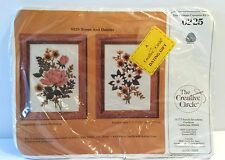 CREATIVE CIRCLE ROSES AND DAISES 1985 Embroidery Kit # 0225 Sealed Vintage