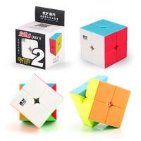 QIYI Magic Qidi 2X2 Speed Cube Puzzle Twsity Game Bright Stickerless Kids Toys