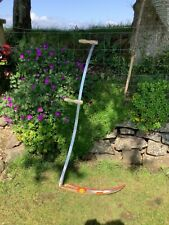 "More details for alpine grass scythe folding lightweight 1.5m 60cm 24"" blade sharpening stone"
