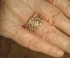 HOLIDAY SALE Vtg Ring 14Kt Gold size 7.5 BAND handmade Nugget cigar band UNIQUE