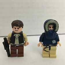 LEGO Lot of 2 Han Solo Minifigures - 7749 (Hoth) & 8129 (AT-AT)