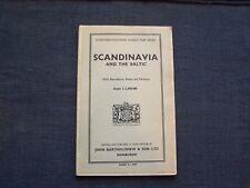 1955 John Bartholomew & Son Ltd fold-out map of Scandinavia and the Baltic