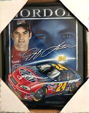 Framed 2006 Jeff Gordon Print, Dupont NASCAR Chevy Chevrolet Racing Racer #24