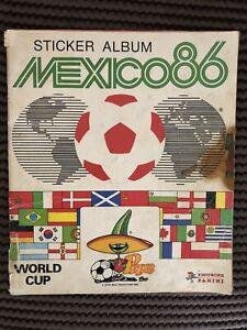 Panini Mexico 1986 World Cup Sticker Album Retro Vintage