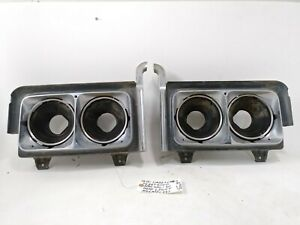 OEM 1970 Cadillac Fleetwood special 60 complete headlight assembly set LH & RH