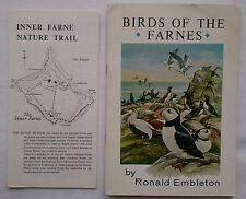 RONALD EMBLETON.PETER HAWKEY.BIRDS OF THE FARNE ISLANDS.1ST SB,COL ILLS,MAP,PLUS