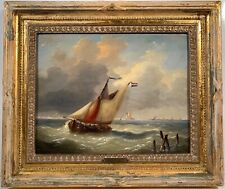 Listed Artist Louis Charles Verboeckhoven (1802-1889) Signed Oil Painting
