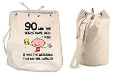 The Years Have Been Kind 90th Birthday Present Duffle Backpack Bag - Funny Gift