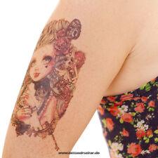 Temporary Fake Tattoo Gothik Grunge Rose Girl Skull Uhr Arm Tatoo - Blitzversand