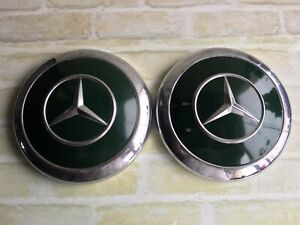 EARLY MODEL Rare VINTAGE Mercedes BENZ Ponton - 2 x HUBCAPS