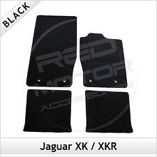 Jaguar XK & XKR 2006-2014 Tailored Fitted Carpet Car Floor Mats BLACK