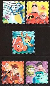 Scott #4677-81 Used Set of 5, Pixar Films: Mail A Smile (Off Paper)