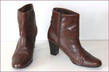 TCM Bottines Boots à Talons Cuir Marron Doublées Cuir T 38 TTBE