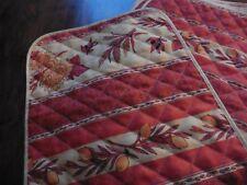 8 set de table vintage en tissu provençale 48 x35 cm orange x jaune