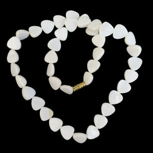 """10x3mm White Shell Triangle Necklace About 17.5"""" R19231"""