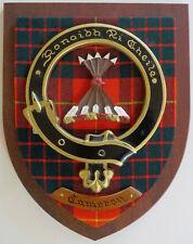 "Scottish Clan CAMERON Tartan Plaque Crest Shield LARGE 12"""